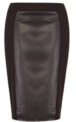 Pleather Front Pencil Skirt R99.99